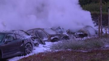 W Hamburgu spłonęło 12 samochodów porsche. W przeddzień szczytu G20