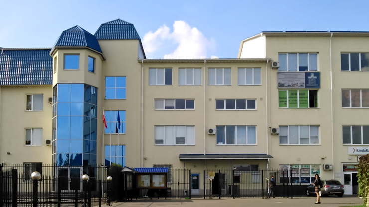 Polski konsulat w Łucku. Po eksplozji uruchomił się alarm w sąsiednim KredoBanku.