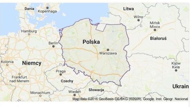 Mapy Google oddały część Polski Rosji
