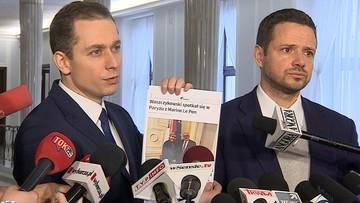 """13-03-2017 14:08 Waszczykowski z Le Pen. Platforma pyta: """"czy istnieje plan wyprowadzenia Polski z UE"""""""