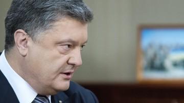 04-04-2016 11:07 Poroszenko grozi rozwiązaniem parlamentu i stawia ultimatum