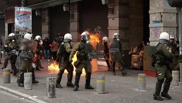 04-02-2016 17:26 Strajk przeciwko reformie emerytalnej w Grecji. 40 tys. ludzi w dwóch demonstracjach