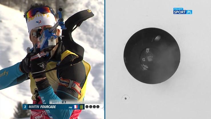 MŚ w biathlonie: Złoto Fourcade'a w biegu pościgowym. Bjoerndalen z medalem