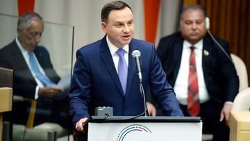 19-09-2016 18:10 Polski prezydent wezwał do zakończenia wojen i pomocy uchodźcom