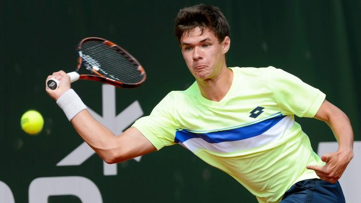 Challenger Poznań Open: Majchrzak odpadł w drugiej rundzie