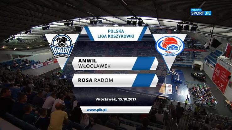 Anwil Włocławek - Rosa Radom 86:65. Skrót meczu