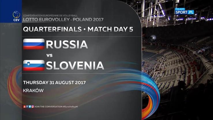 Rosja - Słowenia 3:0. Skrót meczu