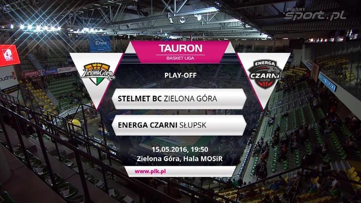 Stelmet BC Zielona Góra - Energa Czarni Słupsk 87:67. Skrót meczu