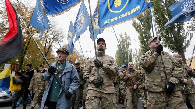 Ukraina: Ulicami Kijowa przeszedł Marsz Chwały poświęcony UPA