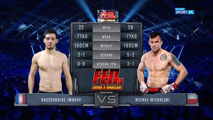 2017-10-14 Michał Michalski - Nassourdine Imavov. Skrót walki