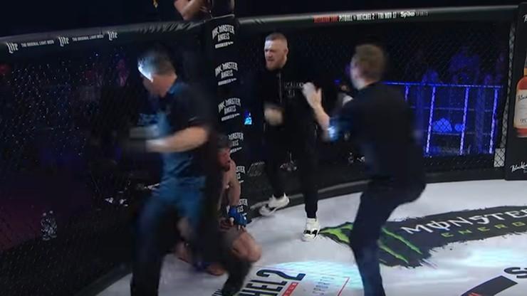 McGregor wtargnął do klatki w trakcie gali! Doszło do przepychanki z sędzią KSW (WIDEO)
