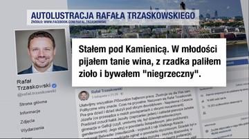 """""""Autolustracja"""" Trzaskowskiego hitem internetu. """"Stałem pod Kamienicą. W młodości pijałem tanie wina, z rzadka paliłem zioło"""""""