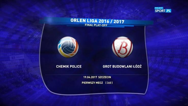 Chemik Police - Grot Budowlani Łódź 3:1. Skrót meczu