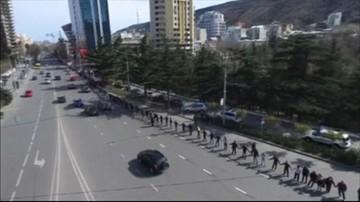 06-03-2016 20:45 Gruzini wyszli na ulice. Protestowali przeciwko Gazpromowi