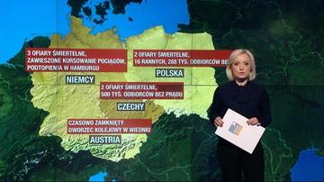 Skutki wichur w Polsce, Niemczech i Czechach
