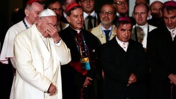 """09-09-2017 06:21 """"Chciałbym płakać z wami"""". Papież do ofiar wojny domowej w Kolumbii"""