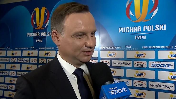 Prezydent Duda: Bezstronnie podziwiałem akcje obu zespołów
