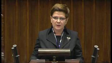 Beata Szydło o polityce bezpieczeństwa