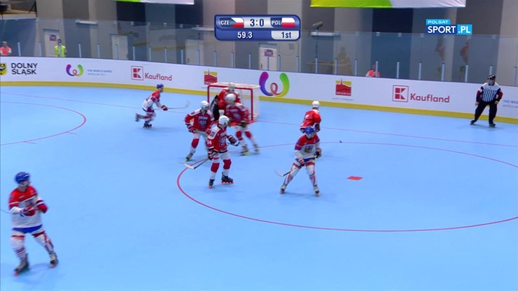 Hokej na rolkach: Bramka Polaków w ostatniej sekundzie