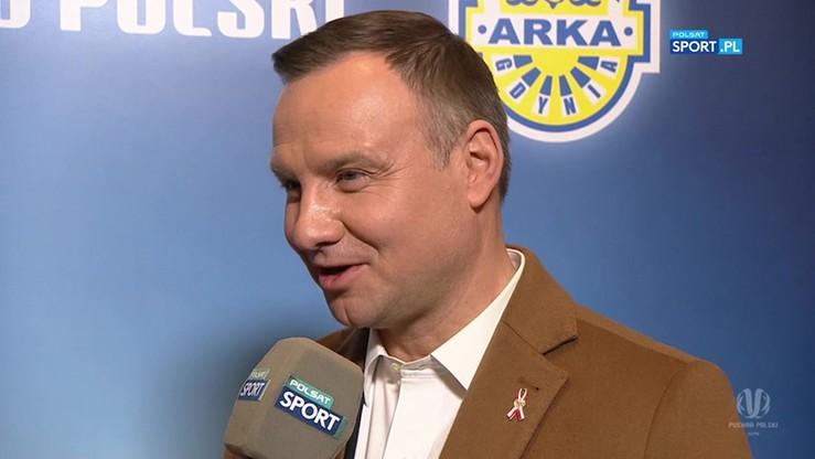 2017-05-02 Prezydent Duda: Na twarzach piłkarzy Lecha malowała się rozpacz
