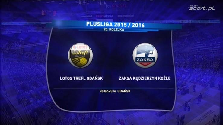 2016-02-28 Lotos Trefl Gdańsk - ZAKSA Kędzierzyn-Koźle 3:1. Skrót meczu