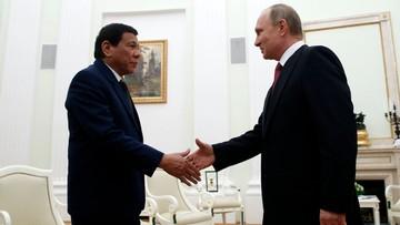24-05-2017 05:14 Prezydent Filipin poprosił Putina o broń na islamistów