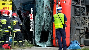 12-08-2017 07:00 Wypadek Polskiego Busa na Podkarpaciu. Wielu rannych