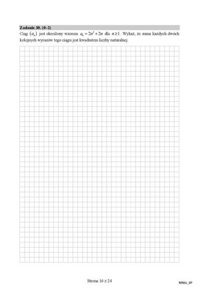 Matura z matematyki 2016