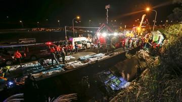 13-02-2017 17:22 Wypadek autokaru wycieczkowego na Tajwanie. 32 ofiary