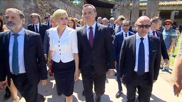 Para prezydencka zwiedziła Pompeje