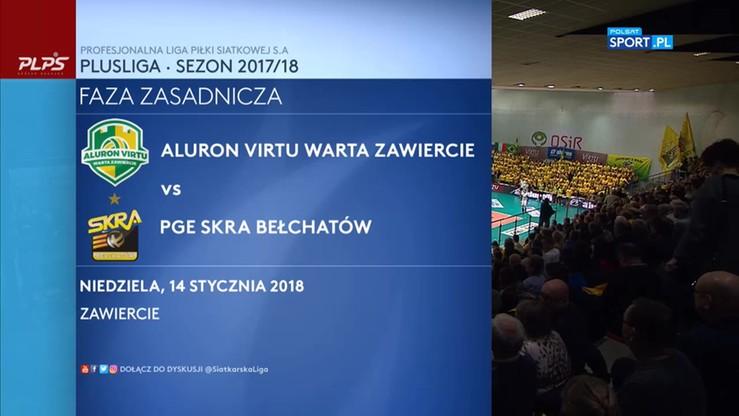 Aluron Virtu Warta Zawiercie – PGE Skra Bełchatów 3:0. Skrót meczu