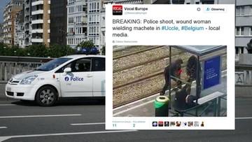 23-08-2016 08:37 Kobieta maczetą zaatakowała pasażerów autobusu w Brukseli. Trzy osoby ranne