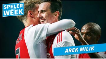 2015-11-02 Milik wybrany piłkarzem tygodnia w Holandii