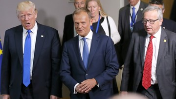 Trump spotkał się z Tuskiem i Junckerem. Tematami m.in. terroryzm, sprawy klimatu i Ukraina