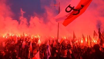 """11-11-2016 17:25 """"Jesteśmy nadzieją, że cywilizacja nie upadnie"""". Marsz Niepodległości w Warszawie"""