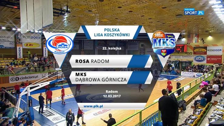 Rosa Radom - MKS Dąbrowa Górnicza 90:85. Skrót meczu