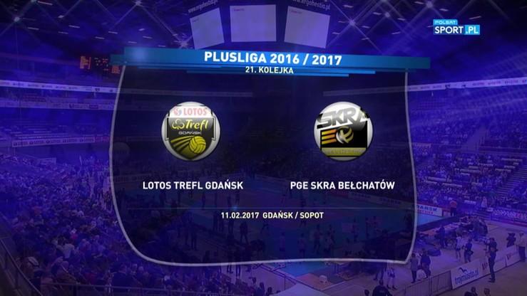 Lotos Trefl Gdańsk - PGE Skra Bełchatów 2:3. Skrót meczu