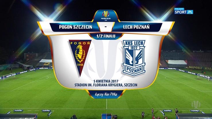 Pogoń Szczecin - Lech Poznań 0:1. Skrót meczu
