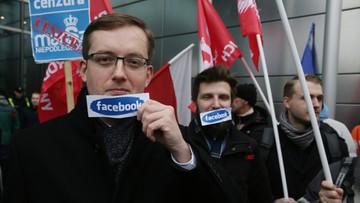 05-11-2016 19:04 Narodowcy protestowali przed polskim oddziałem Facebooka