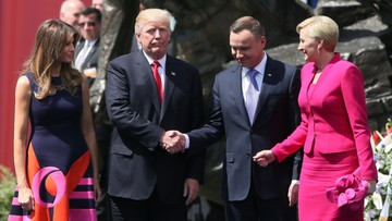 """07-07-2017 13:08 Prezydent: moja żona uścisnęła rękę pani i pana Trump. Walczmy z """"fake newsami"""""""