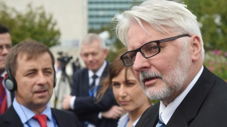 """""""Komisja nam przeszkadza, nawet w dyskusji"""". Waszczykowski udzielił wywiadu telewizji France 24"""