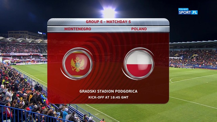 Czarnogóra - Polska 1:2. Skrót meczu