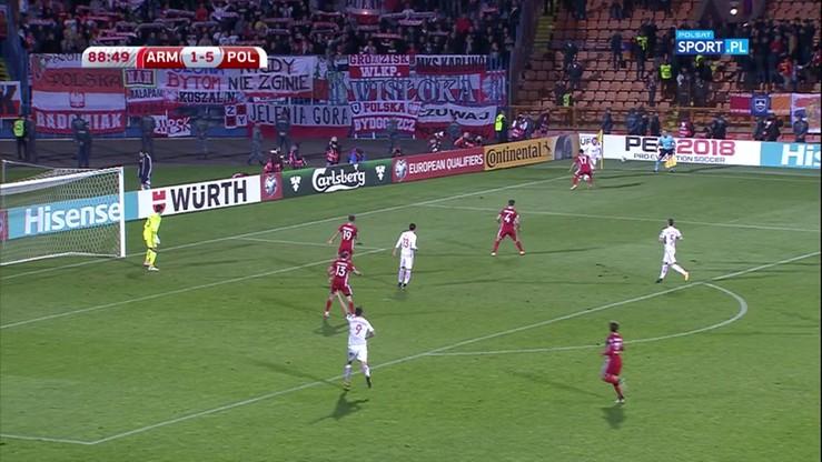 Armenia - Polska 1:6. Gol Wolskiego
