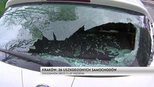Kraków: Chuligani uszkodzili 26 samochodów. Grozi za to 5 lat więzienia