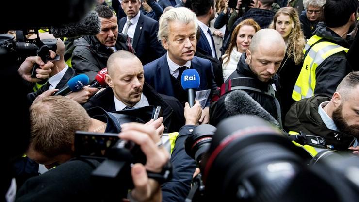 Holenderski polityk Geert Wilders zawiesza kampanię po skandalu z ochroną