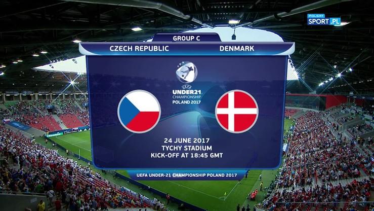 2017-06-24 Euro U-21: Czechy - Dania 2:4. Skrót meczu