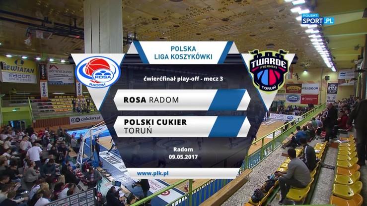 Rosa Radom - Polski Cukier Toruń 89:90. Skrót meczu
