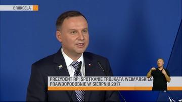 26-05-2017 14:49 Duda po rozmowie z Macronem cytuje Broniewskiego i wybucha śmiechem