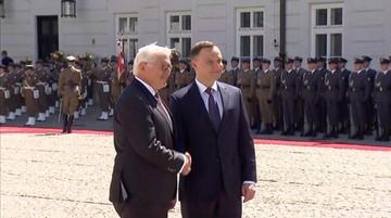 19-05-2017 11:13 Prezydent Niemiec w Polsce. Spotkał się z Andrzejem Dudą