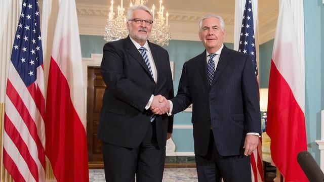 USA: Waszczykowski rozmawiał z Tillersonem o zniesieniu wiz